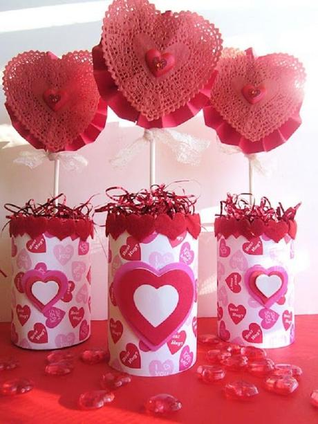 Lindas decoraciones de mesa por san valent n paperblog for Decoracion mesa san valentin