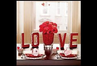 Lindas decoraciones de mesa por san valent n paperblog - Decoracion mesa san valentin ...