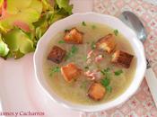 Sopa cebolla jamón serrano