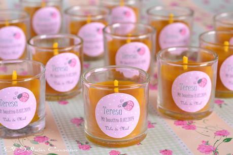 Detalles naturales para bautizos velas de miel paperblog - Etiquetas para velas ...