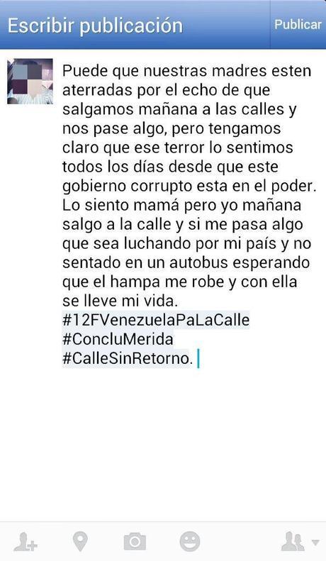 Marchas estudiantiles en Venezuela #12F