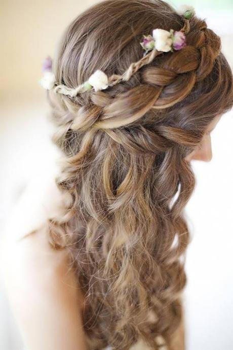 Peinados de novias de trenzas