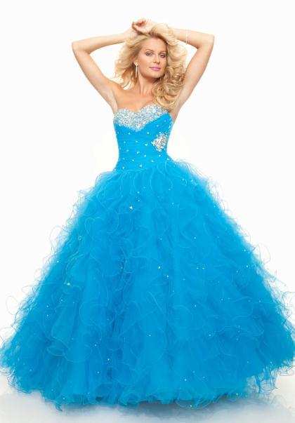 Vestidos de XV años 2014 color azul turquesa - Imagui