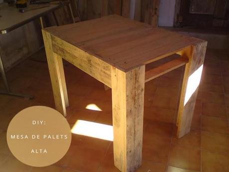 Diy palets mesa de comedor con palets paperblog Como hacer un comedor