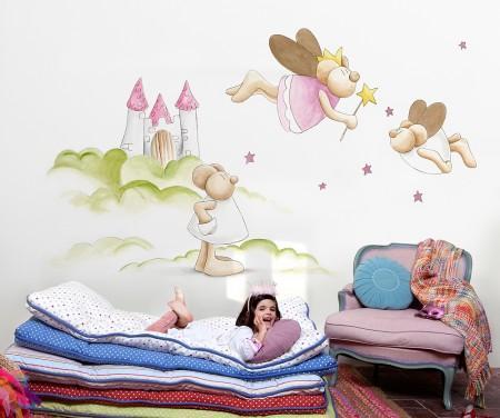 Papel pintado para la habitaci n del beb con coordonn - Habitacion bebe papel pintado ...