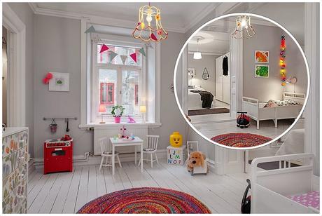 Dormitorio infantil low cost estilo n rdico diy guirnalda for Dormitorio estilo nordico infantil