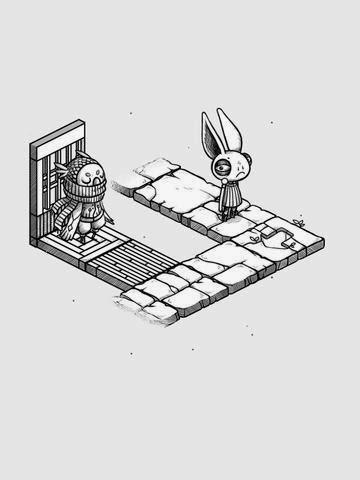 Oquonie, un extraño juego de puzles para iOS con reminiscencias de la técnica Filmation