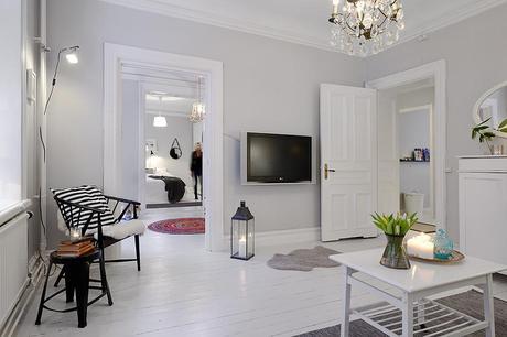 Interiores n rdicos de color gris atr vete con una decoraci n luminosa de contraste paperblog for Colores grises para paredes interiores