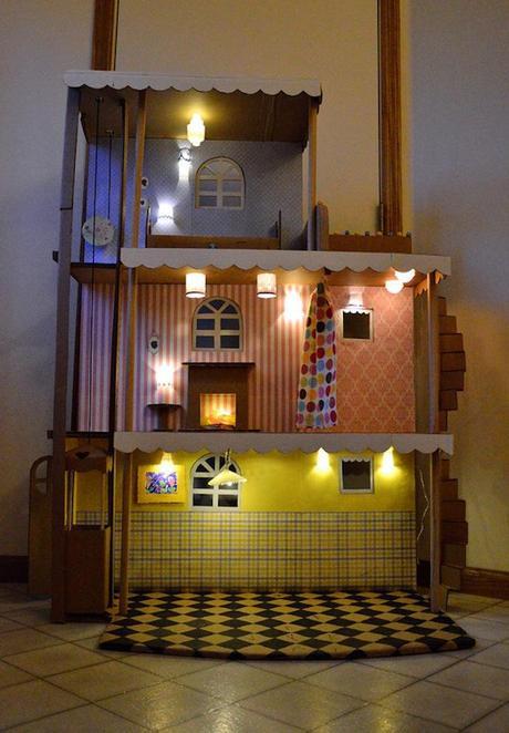 Кукольный домик из коробок схема