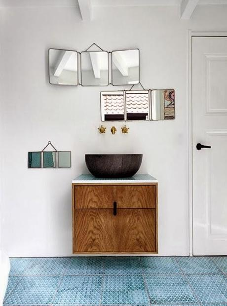 Decoraci n vintage con espejos de viaje paperblog - Espejo de viaje ...