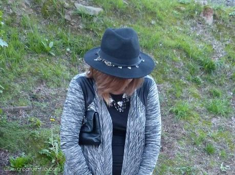nuevo concepto 6d57c 3a353 Look (premama o embarazada) total look black y chaqueta gris ...