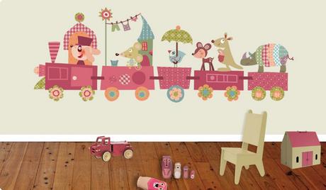 Vinilos infantiles para decorar la habitaci n de los ni os for Vinilos habitacion nino