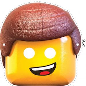 Careta del Lego Emmet. Manualidades a Raudales.