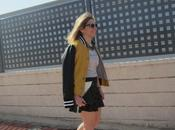 Look312-26.2.20148:30trend: bomber jacket skirt with fr...