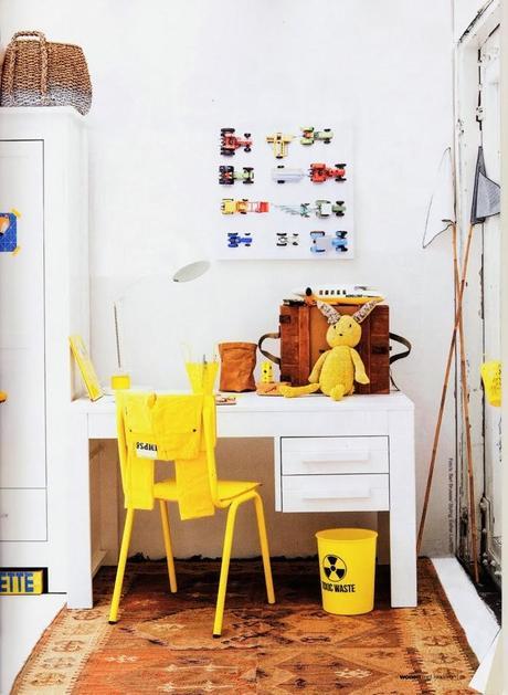 Un dormitorio infantil vintage con muebles reciclados - Dormitorios reciclados ...