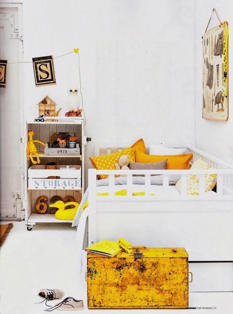 Un dormitorio infantil vintage con muebles reciclados - Muebles reciclados vintage ...