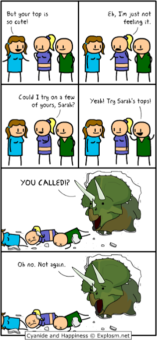Try Sarah's Top (Cyanide & Happiness)