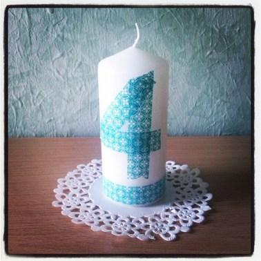 Vela cumple washi tape