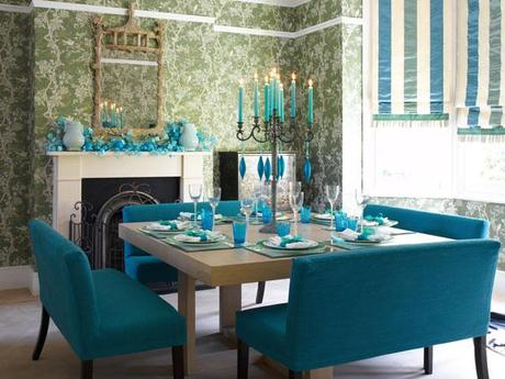 Belllos comedores en turquesa paperblog - Decoracion de interiores en color azul turquesa ...