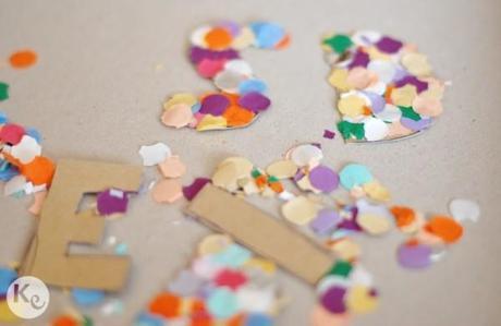 DIY. Confetti typographic garland