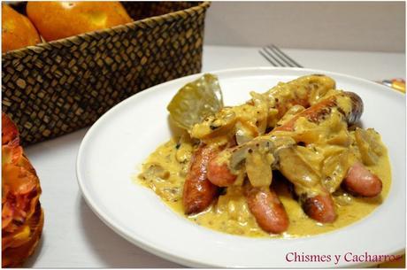 Salchichas frescas de pollo con salsa de mostaza paperblog - Salchichas frescas en salsa ...