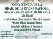Este domingo, convivencia Hermandad Divina Pastora aldea Rocío