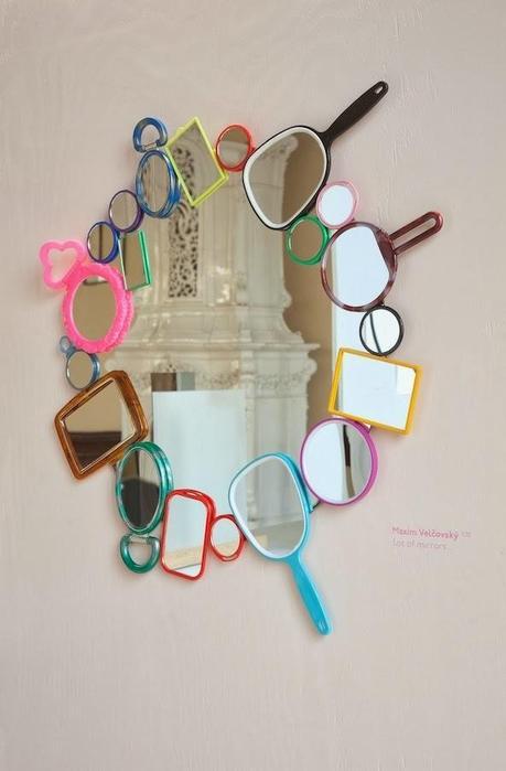 un espejo original decorado con espejos paperblog