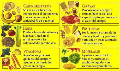 comidas que contengan proteinas carbohidratos vitaminas y minerales