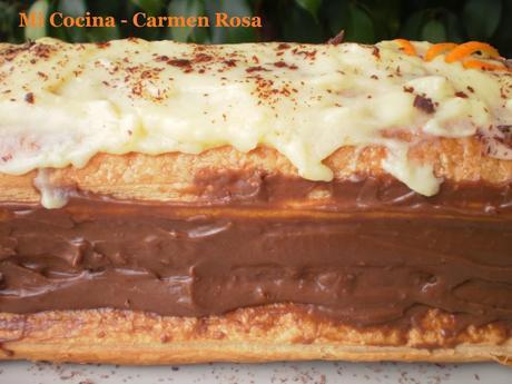 Crema Chocolate Relleno Milhojas Con Relleno de Crema
