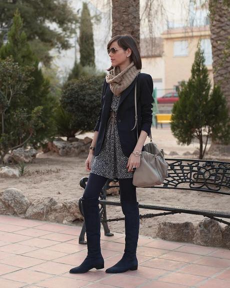 Vestido Blazer Botas Altas Paperblog