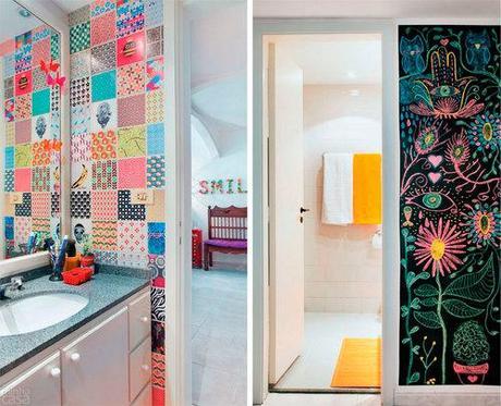 algunas ideas para decorar las paredes de tu bao
