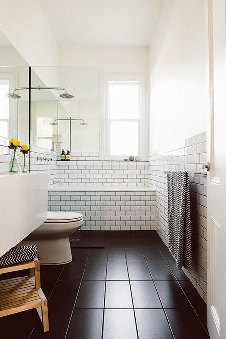 Juntas Azulejos Baño Negras:Diy trendy: juntas negras y azulejos blancos – Paperblog