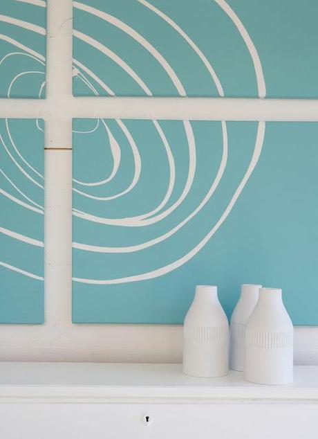 Diy arte para la pared en dos pasos paperblog for Disenos de pintura en paredes