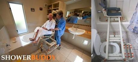 Showerbuddy silla para hacer una ducha y ba era for Sillas para el bano para discapacitados