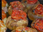 Champiñones rellenos jamón serrano salsa tomate horno)