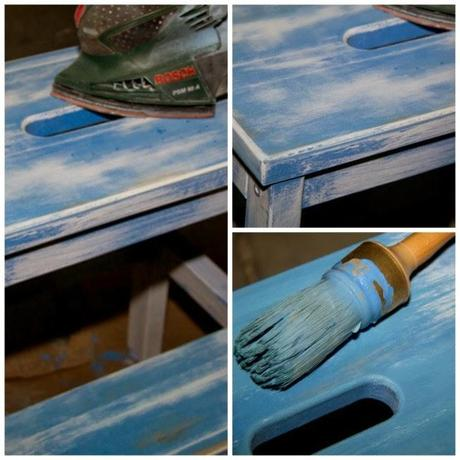 C mo pintar una escalera de ikea con chalk paint paperblog for Pintar mueble ikea chalk paint