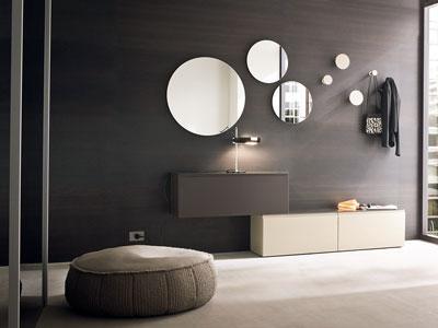 Lindas salas decoradas con espejos paperblog for Espejos circulares pared
