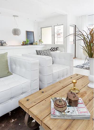 Decoracion con blanco y detalles de madera natural paperblog for Detalles decoracion casa