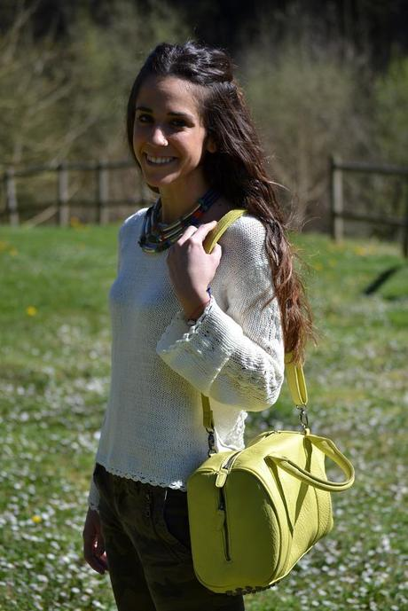 yellow fluor bag
