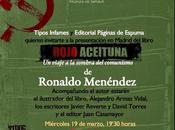 """Presentación """"Rojo Aceituna"""" Ronaldo Menéndez"""
