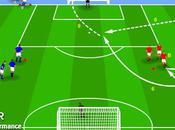 Ejercicio fútbol: centro tiro puerta