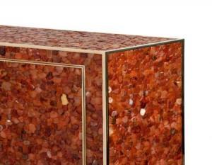 Muebles de diseño: piedras semipreciosas