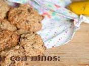 Cocinar niños: receta cookies chocolate avena plátano