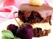 Mini bizcocho chocolate relleno coco
