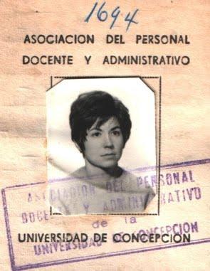 Marta R. Zabaleta* del Frente de Mujeres Revolucionarias del MIR chileno, años 70