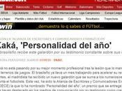 diarios MARCA hacen Kaká ´Premio personalidad año´ como evangélico