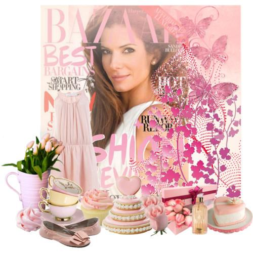 Lady In Pink: Sandra Bullock