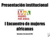 Encuentro mujeres africanas