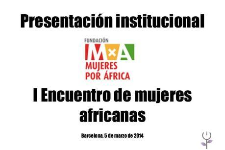 Encuentro de Mujeres Africanas de la Fundación Mujeres por África