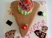 Tarta porción cupcake